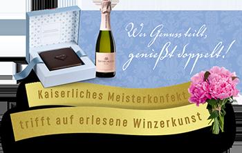 Imperial Torte Wien Geschenkset Nomber 3 Feine Himbeere Bründelmayer Brut Rosé