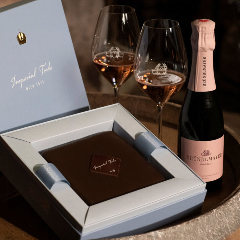 Imperialtorte - N°3 Feine Himbeere & Bründlmayer Brut Rosé Sekt