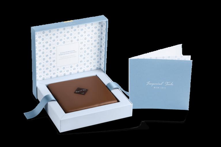 Personalisierte Imperial Torte Wien mit persönlicher Grußkarte